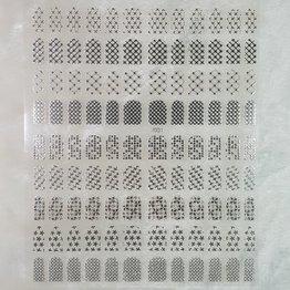 XXL Nail Sticker J001 silber