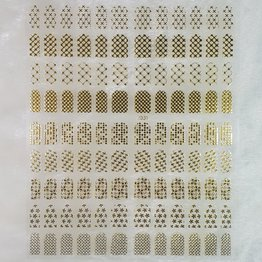 XXL Nail Sticker J001 gold