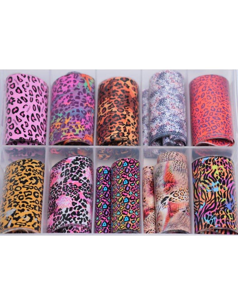 MPK Nails® 10x Nailart Transfer Folie in Box #33