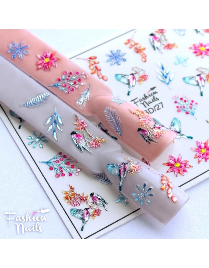 Fashion Nails Nail Wraps 3D Crystal