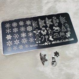 MPK Nails® Stamping Schablone QJ-L42 / MANZ-03