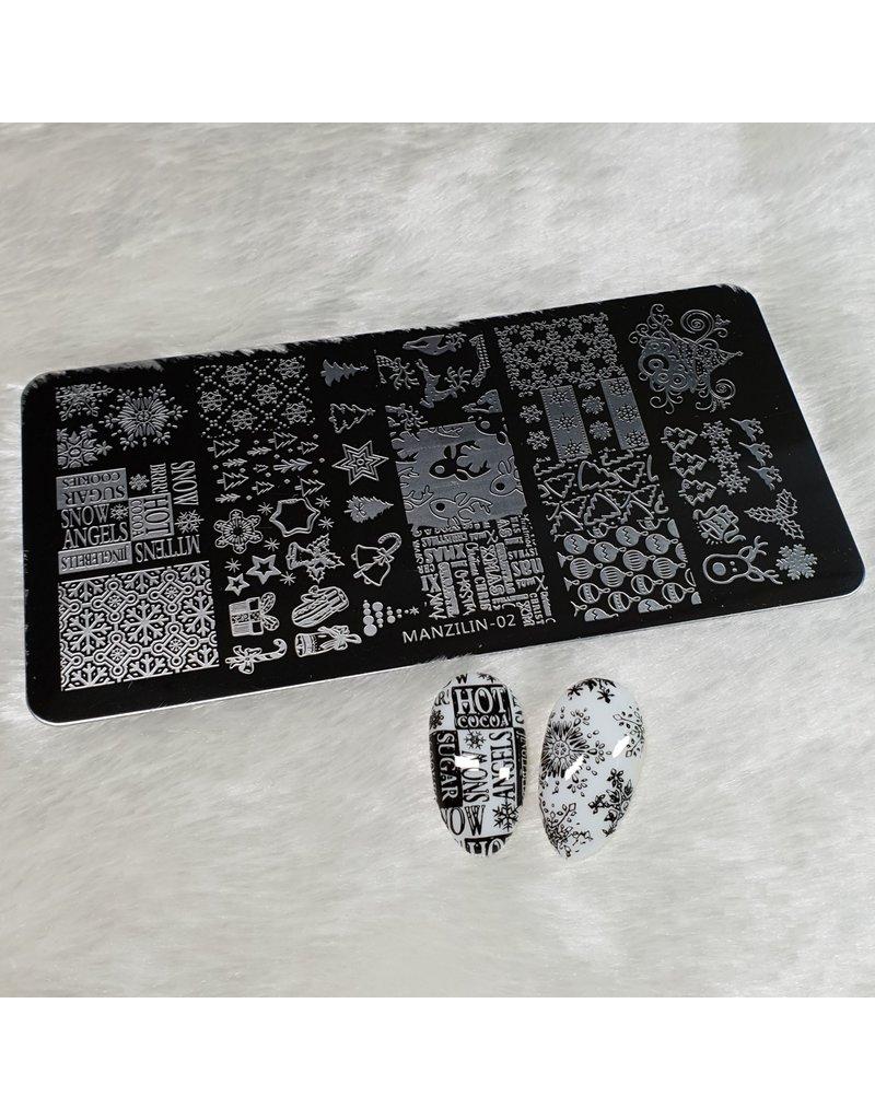MPK Nails® Stamping Schablone MANZ-02