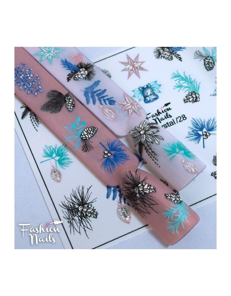 Fashion Nails Nail Wraps 3DC 28