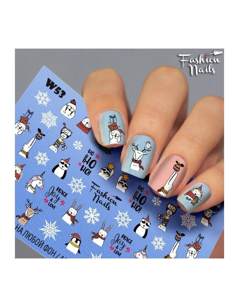 Nail Wraps Weisse Tresse W53