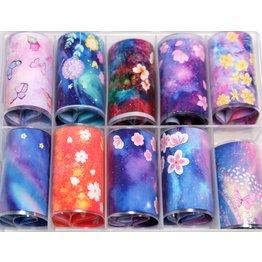 MPK Nails® 10x Nailart Transfer Folie in Box #37