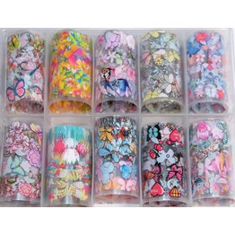 10x Nailart Transfer Folie in Box #38