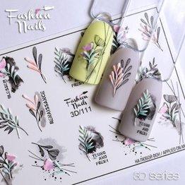 Fashion Nails Nail Wraps 3D 111