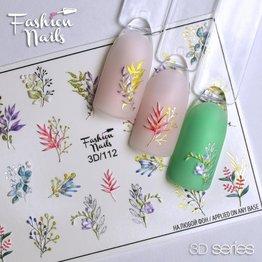 Fashion Nails Nail Wraps 3D 112