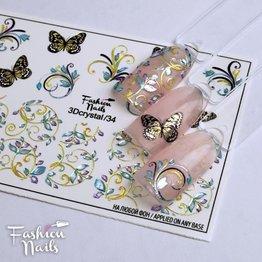 Fashion Nails Nail Wraps 3DC 34