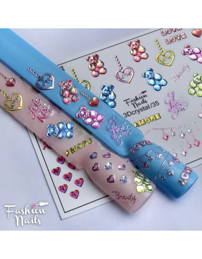 Fashion Nails Nail Wraps 3DC 35