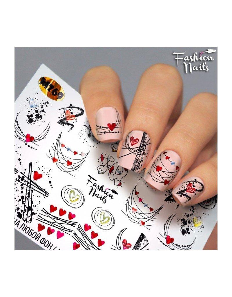 Fashion Nails Nail Wraps metallic m269