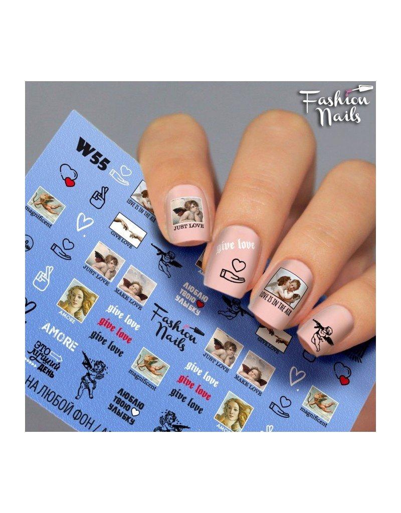 Nail Wraps Weisse Tresse W55