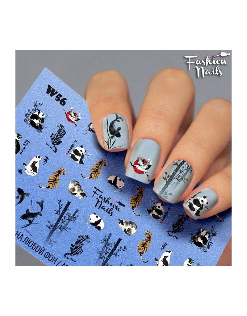 Nail Wraps Weisse Tresse W56