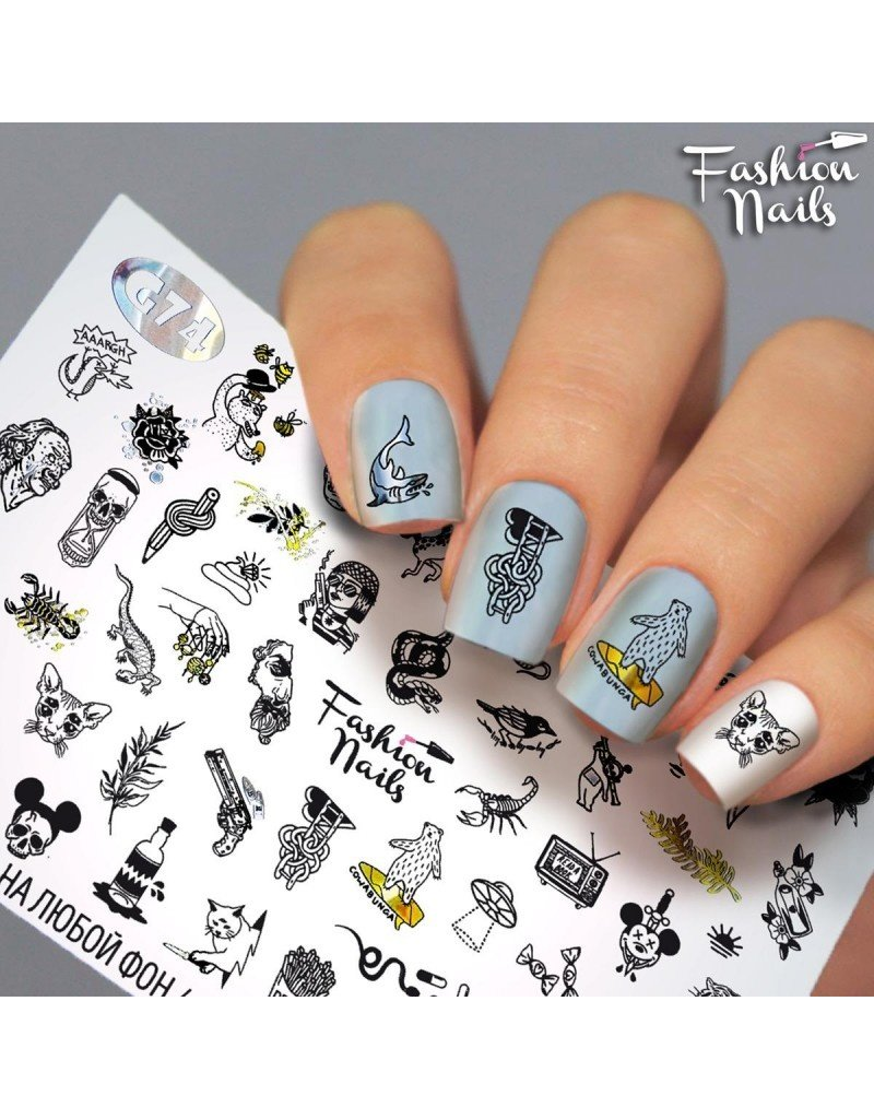 Fashion Nails Nail Wraps Galaxy G74