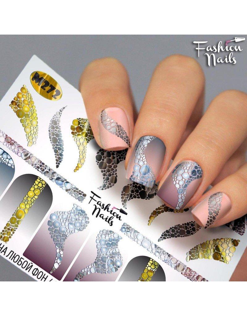 Fashion Nails Nail Wraps metallic m272