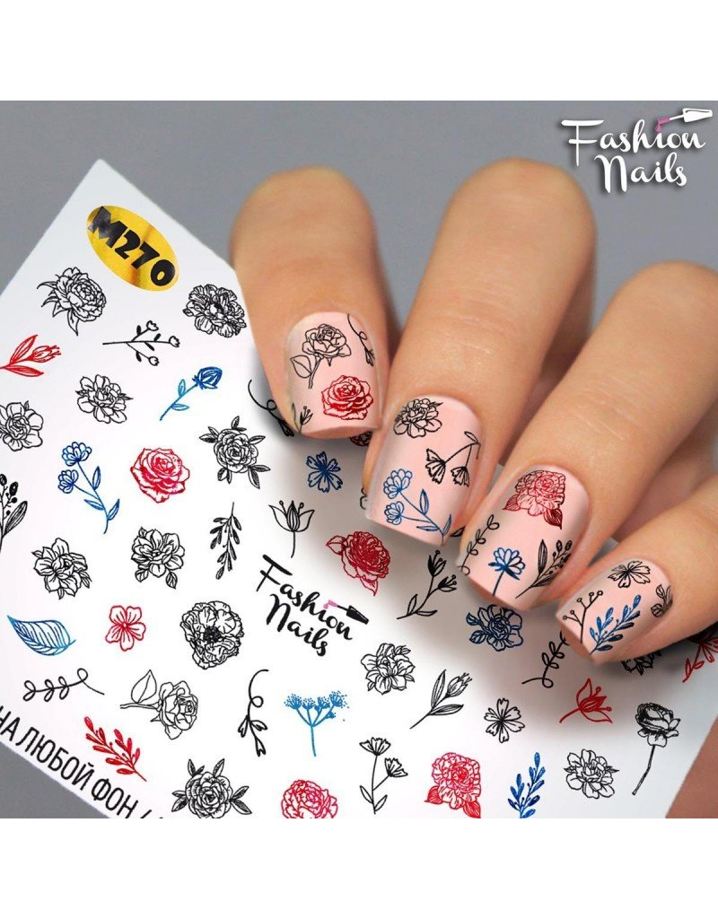 Fashion Nails Nail Wraps metallic m270