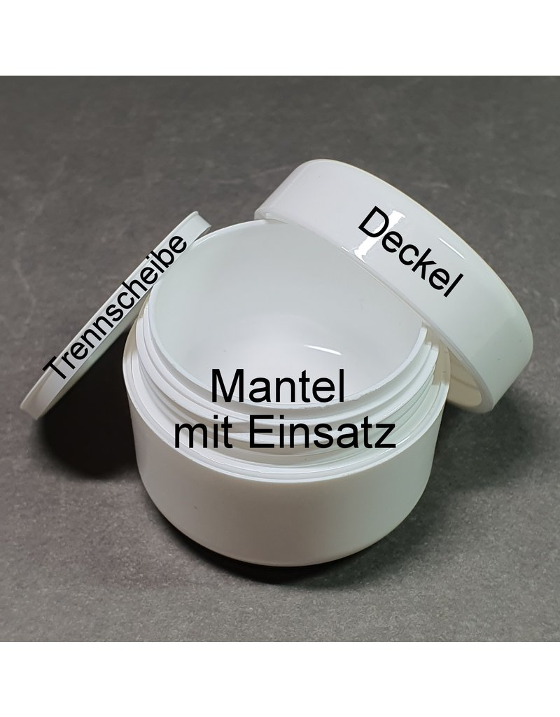 """Ersatzteile für """"Leerer Kosmetik Tiegel 50ml weiß"""""""