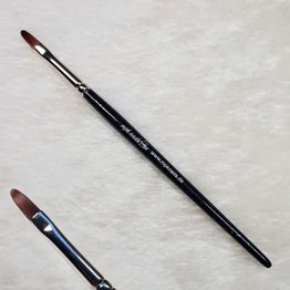 Modellage-Pinsel oval, Größe 6, Schwarz-Glitzer
