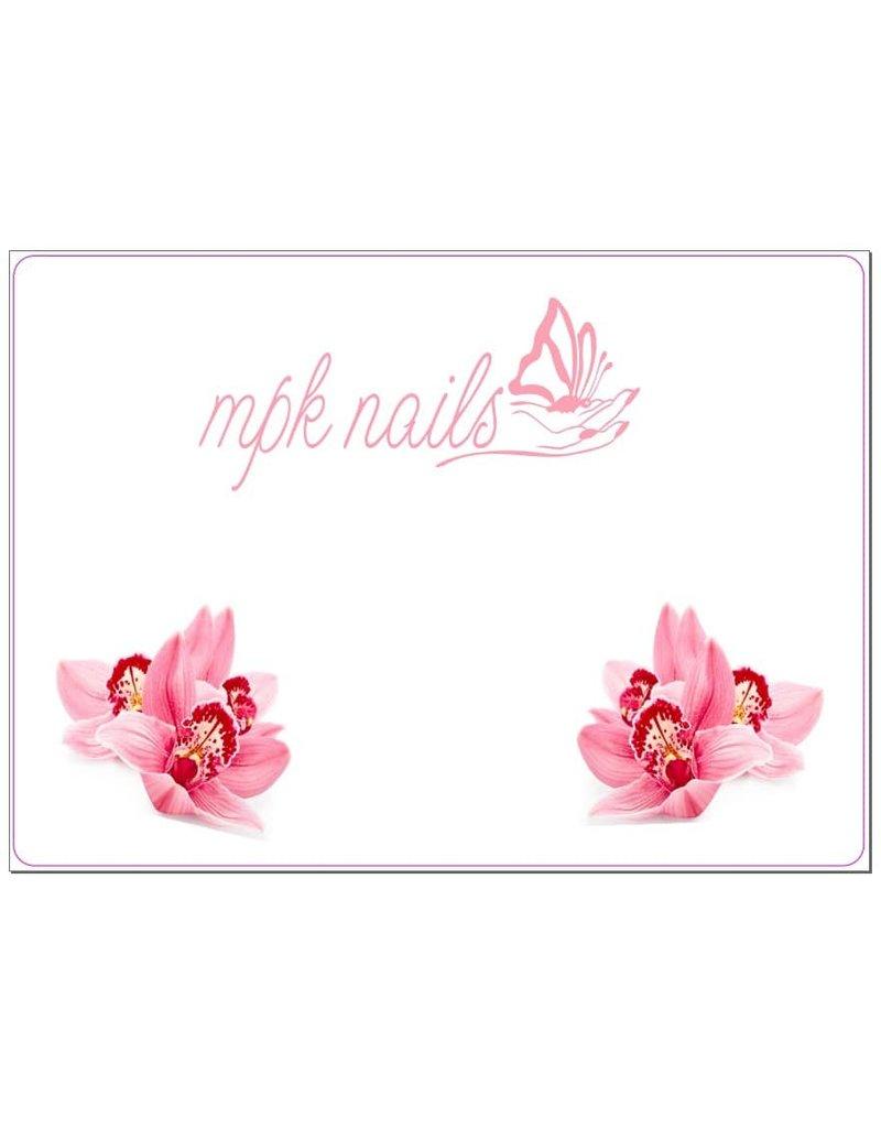 Arbeitsunterlage Orchidee rosa