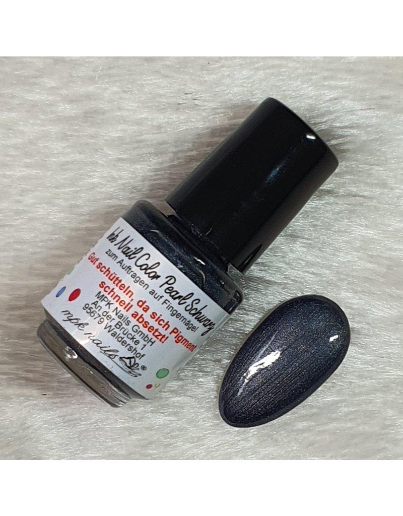 Ink Nail Color Pearl Schwarz