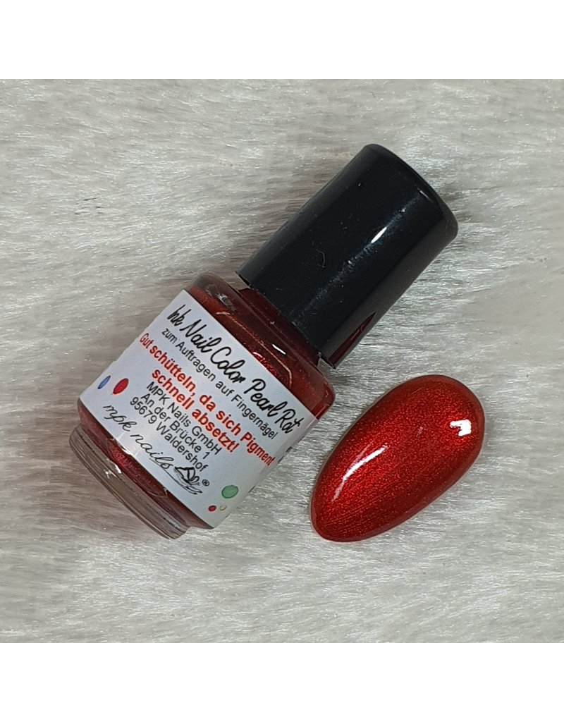Ink Nail Color Pearl Rot