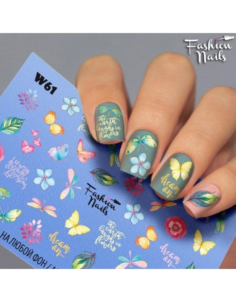 Nail Wraps Weisse Tresse W61