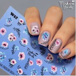Nail Wraps Weisse Tresse W62