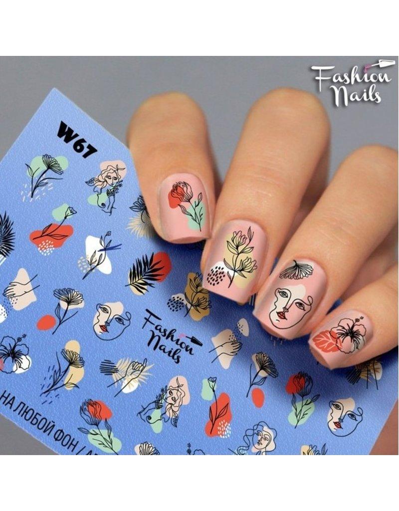Nail Wraps Weisse Tresse W67