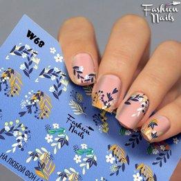 Nail Wraps Weisse Tresse W68