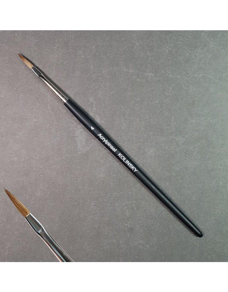 Acrylpinsel Kolinskyhaar, schwarzer Griff