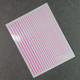 Flexible Nail Sticker Stripes pink