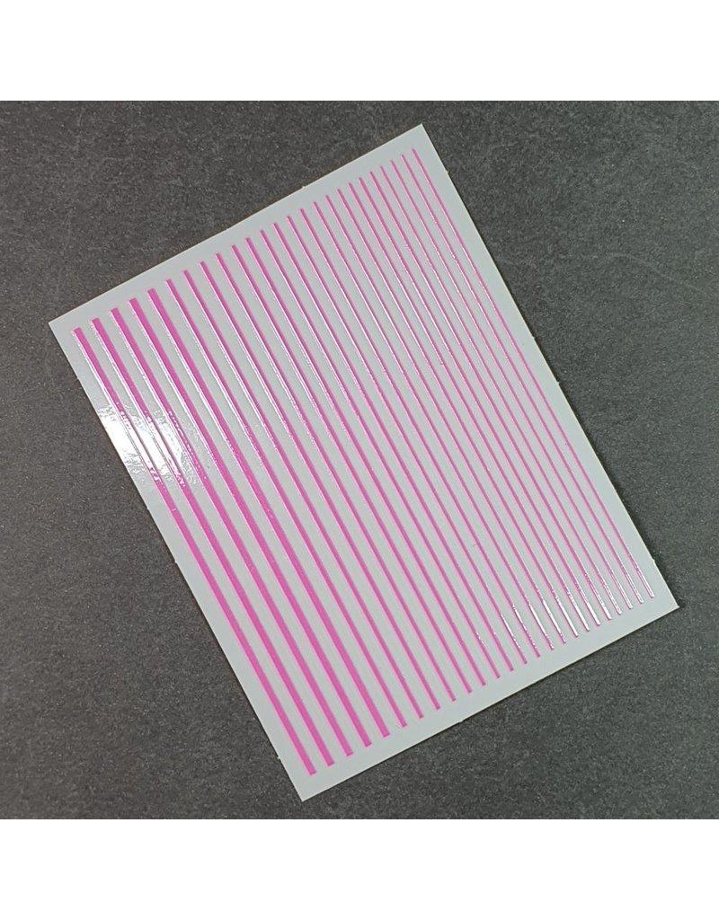 Flexible Nail Sticker Stripes pink