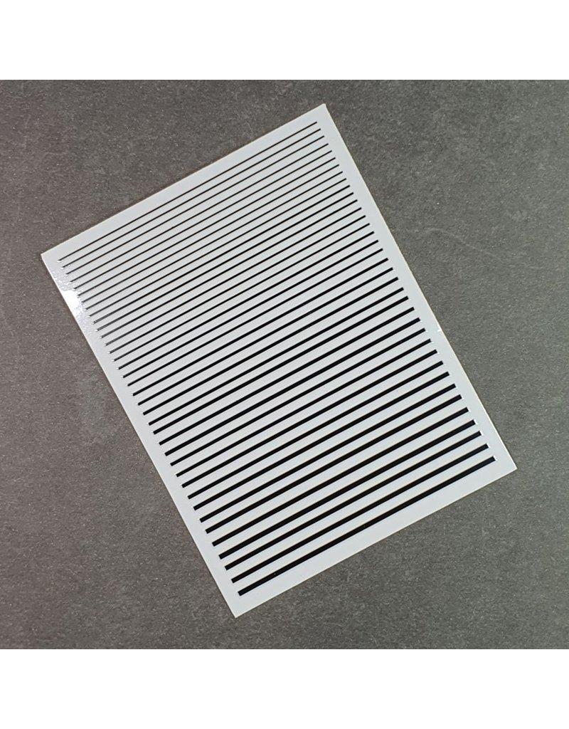 Flexible Nail Sticker Stripes schwarz