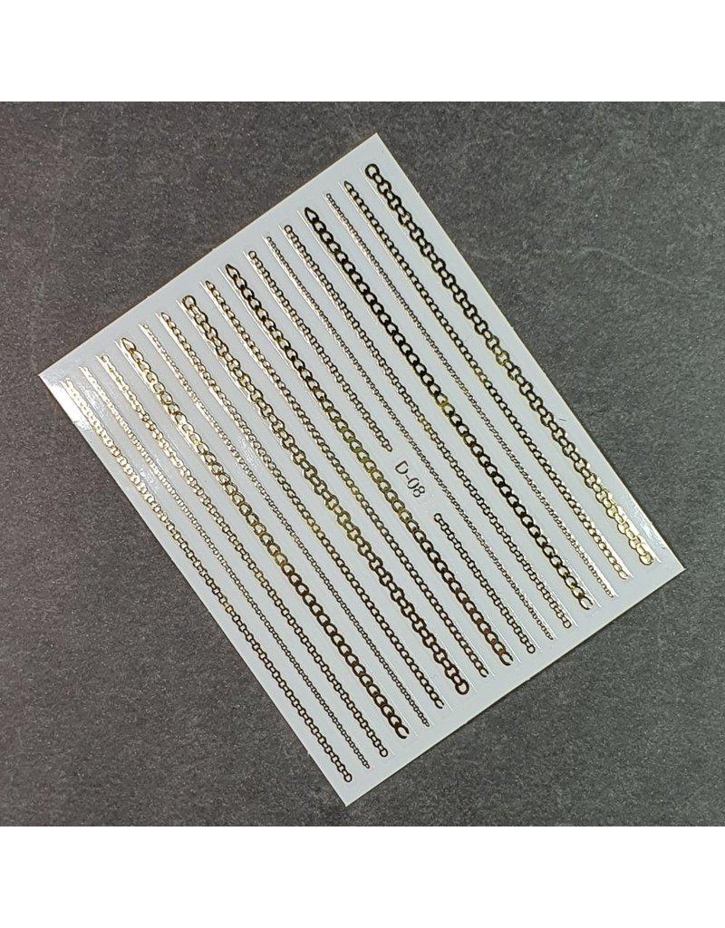 Nail Sticker D-08 gold