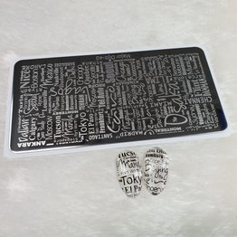 Stamping Schablone Major 40
