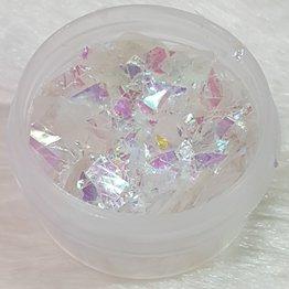 Nail Art Glitter Flakes 04 - Weiß