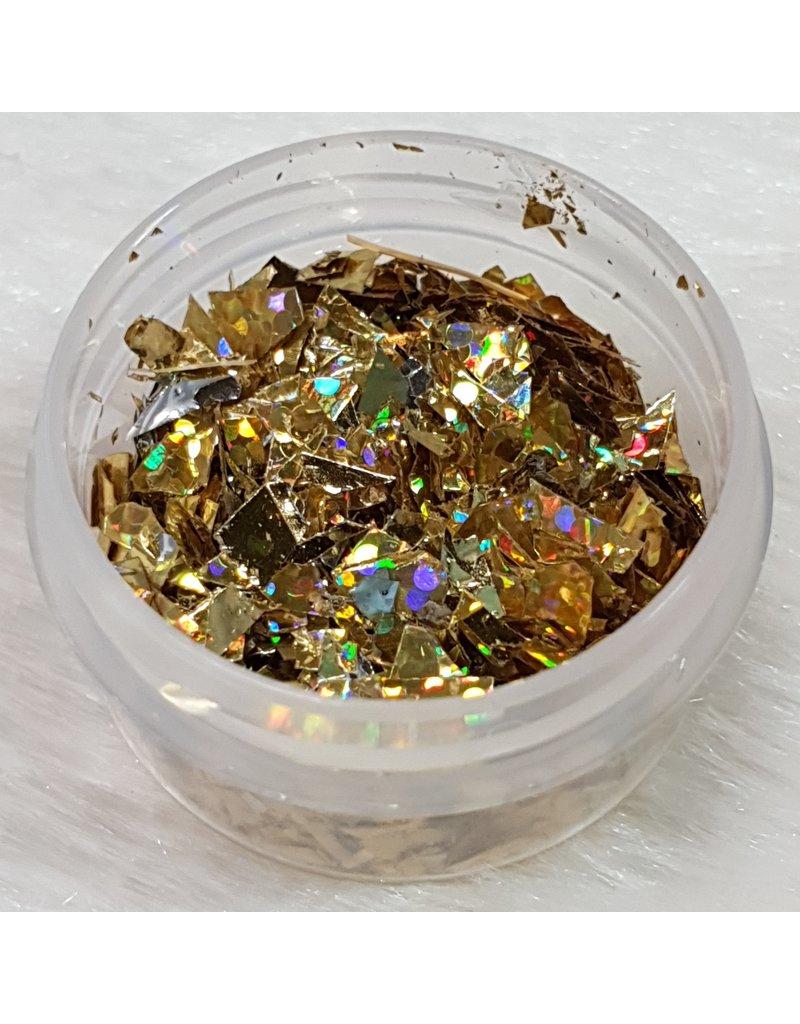 Nail Art Glitter Flakes 09 - Holo Gold
