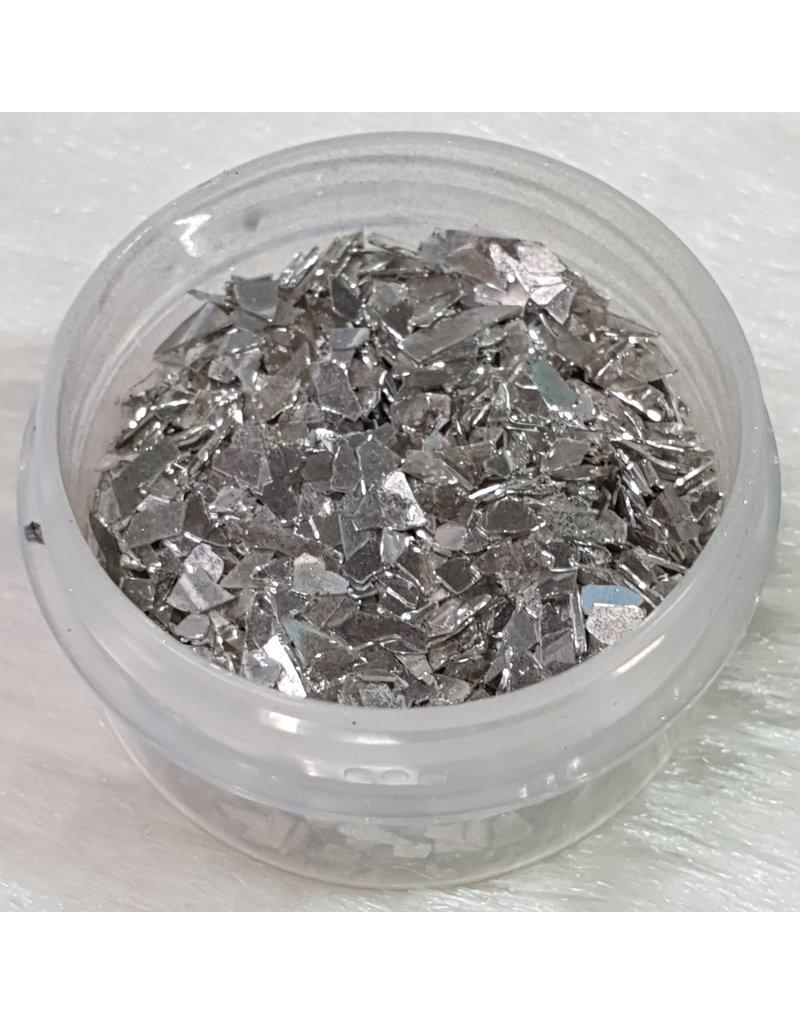 Nail Art Glassplitter 09 – Silber