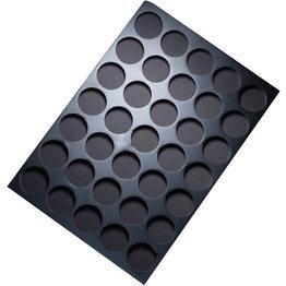 Schubladeneinsatz schwarz, 35 Löcher