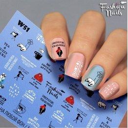Nail Wraps Weisse Tresse W51