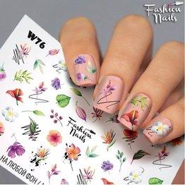Nail Wraps Weisse Tresse W76