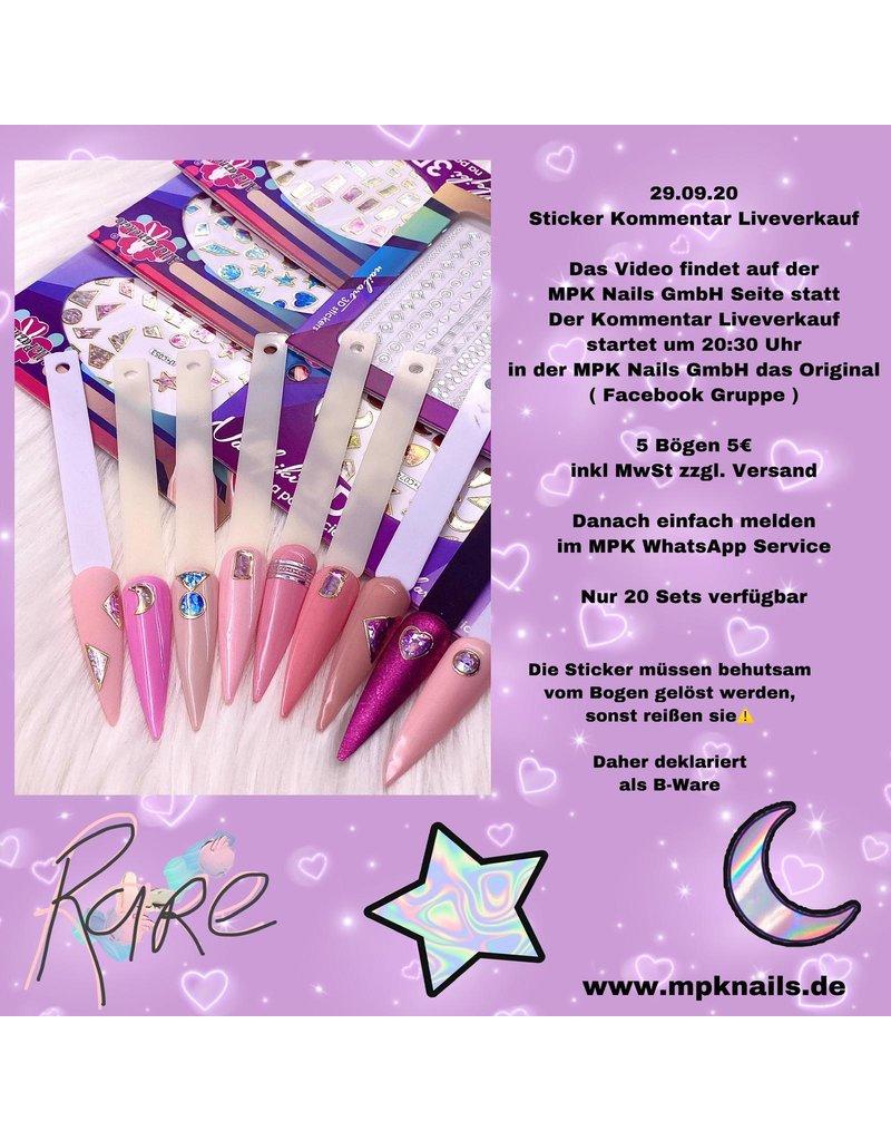 Live Verkauf Stickerset B-Ware (29.09.20)