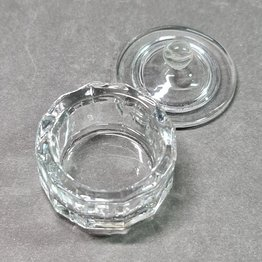 Dappen Dish Glas mit Deckel - mittel
