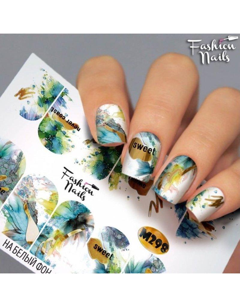 Nail Wraps metallic m298