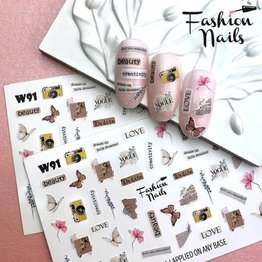 Nail Wraps Weisse Tresse W91