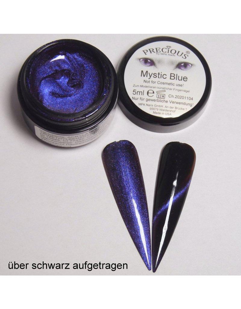 Mystic Cat Eye Farbgel Blue semi-opak