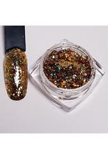 Nail Art Flakes Holo Gold