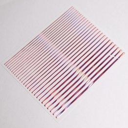 Metallic Nail Sticker Stripes holo pink