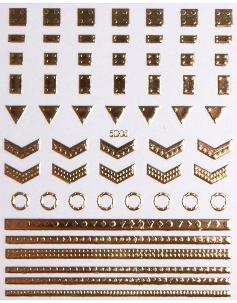 Nail Sticker gold - 5D 08