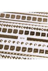 Nail Sticker gold - 5D 10